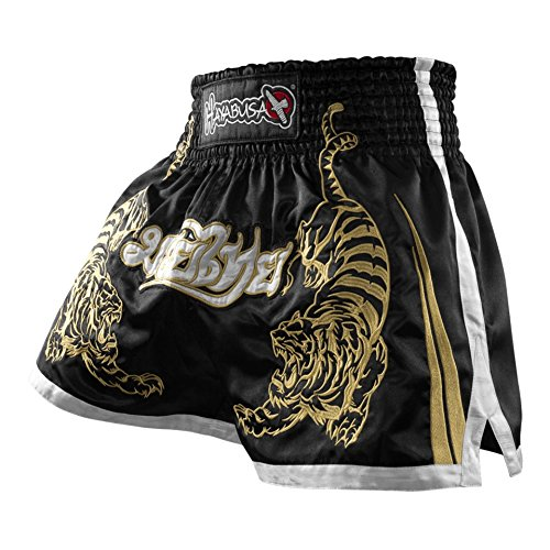 Hayabusa Muay Thai Shorts, Black, 34