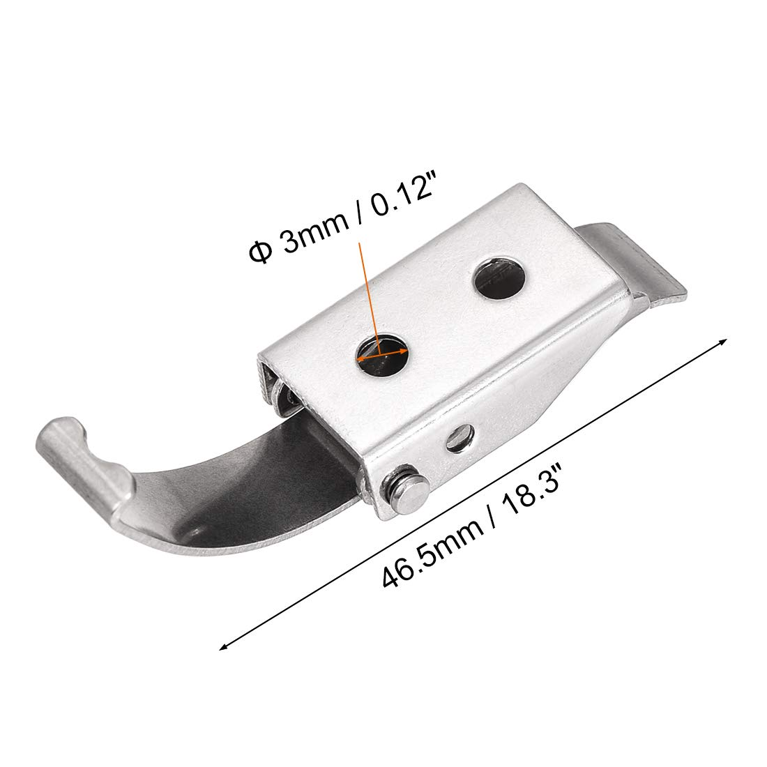 uxcell 2.87-inch SUS304 Stainless Steel Draw Toggle Latch with Spring-Steel Hook