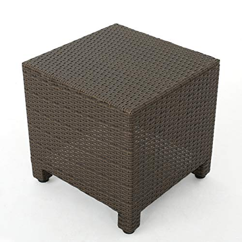 (Christopher Knight Home Venice Outdoor Light Brown Wicker Side Table)