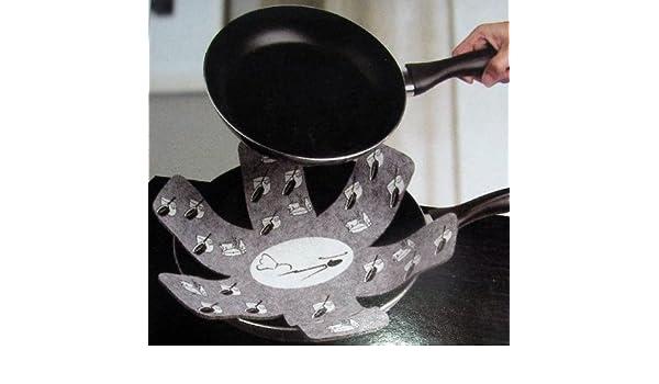 Protección para sartenes - cubre sartenes - olla rustchfest - gris aprox ø38cm: Amazon.es: Hogar