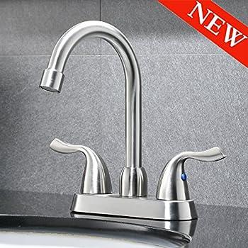 Superieur VAPSINT Commercial Two Handle Stainless Steel Brushed Nickel Bathroom Faucet,Lavatory  Vanity Basin Faucet Bathroom
