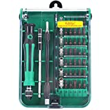 Elecall Precision Screwdriver 45 in 1 Kit with Extension Shaft for Precise Repair or Maintenance Professional Portable Opening Tool Compact Box