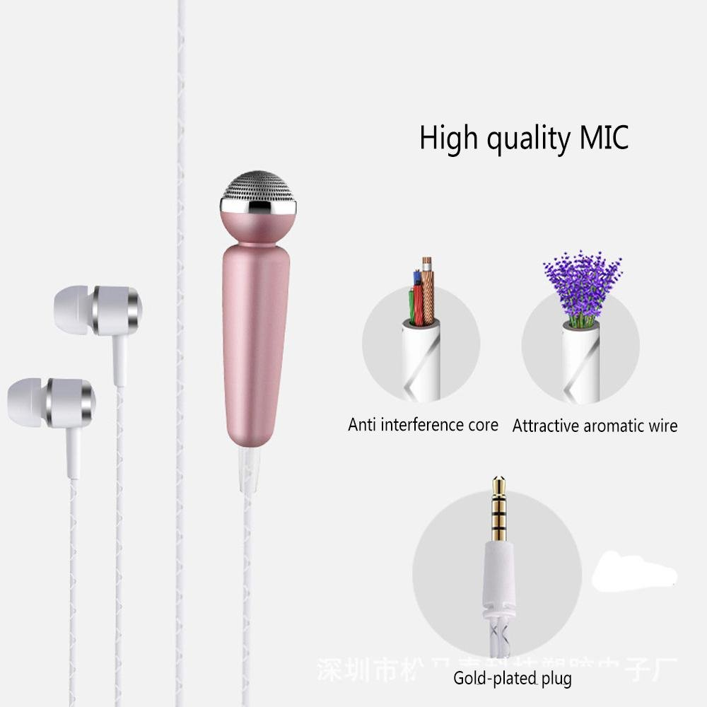 Amazon.com: KOBWA Portable Mini Vocal Microphone for Mobile Phone ...