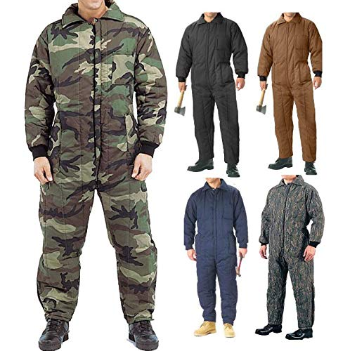 Jumpsuit Cold Weather Insulated Coveralls, Uniform Work Duty Military Insulated Jumpsuit Get 1 Pcs (3X-Large, Navy ()
