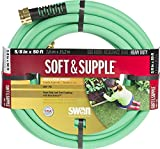 Swan Products SNSS58050 Soft/Supple Easy Coil Heavy Duty Water Hose 50 ft, 5/8'' diameter, Green