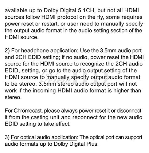 ViewHD UHD 18G HDMI Audio Extractor/Splitter Support HDMI v2.0   HDCP v2.2   4K@60Hz   HDR   ARC   3.5MM Analog Audio Output   Toslink Optical Audio Output   HDMI Audio Output   Model: VHD-UHAE2 by ViewHD (Image #4)