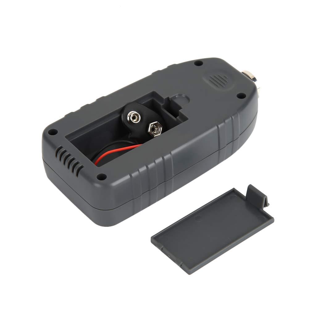 Akozon Medidor de espesor de recubrimiento de pintura port/átil Medidor de espesor digital Pantalla LCD Rango de sonda de auto F /& N incorporado 0-1300um