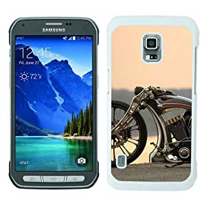 Unique Samsung Galaxy S5 Active Cover Case ,Hot Sale And Popular Designed Case With Bike Custom Unbreakable Motorcycle White Samsung Galaxy S5 Active Case Unique And Cool Phone Case