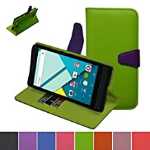 Blu Studio 6.0 HD Case,Mama Mouth [Stand View] Folio Flip Premium PU Leather [Wallet Case] With Built-in Media Stand ID Credit Card / Cash Slots and Inner Pocket Cover Case For Blu Studio 6.0 HD D650a, Green