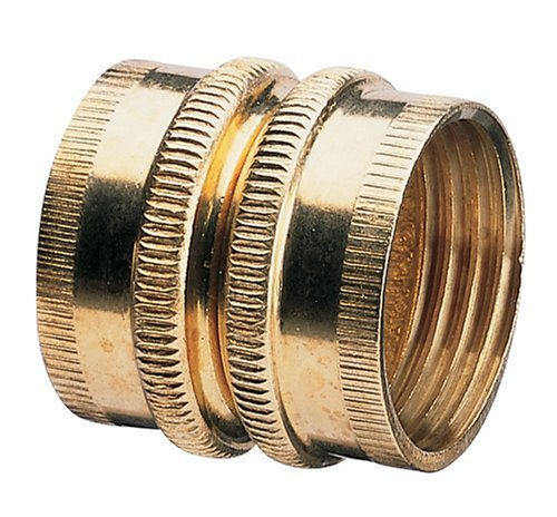 2 pk (4 total fittings) Nelson Industrial Brass Female Hose Fitting, Dual Swivel, 50574