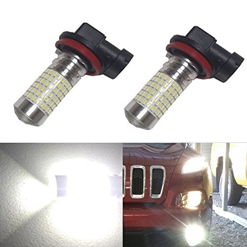 JDM ASTAR 1200 Lumens Extremely Bright 144-EX Chipsets H11 LED Bulbs with Projector for DRL or Fog Lights, Xenon White (2009 Malibu Fog Lights compare prices)