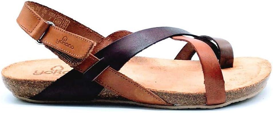 Sandalias de Cuero Fabricadas en España Yokono Ibiza 718 Marrón