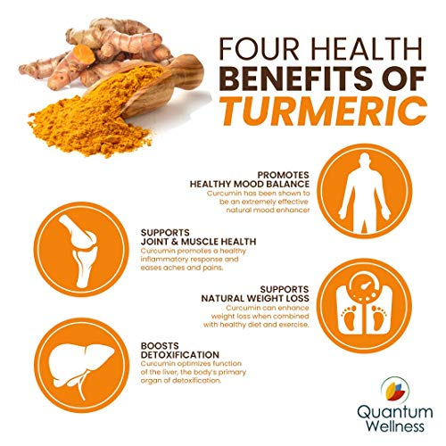 Curcumin 46x with Turmeric, Anti-Inflammatory, Anti-Oxidant with Curcuwin for 46X Higher Bioavailability for Better Absorption for Joint Pain Relief. Made in The USA (3 Bottles - 90 Capsules) by Quantum Wellness Botanical Institute (Image #8)
