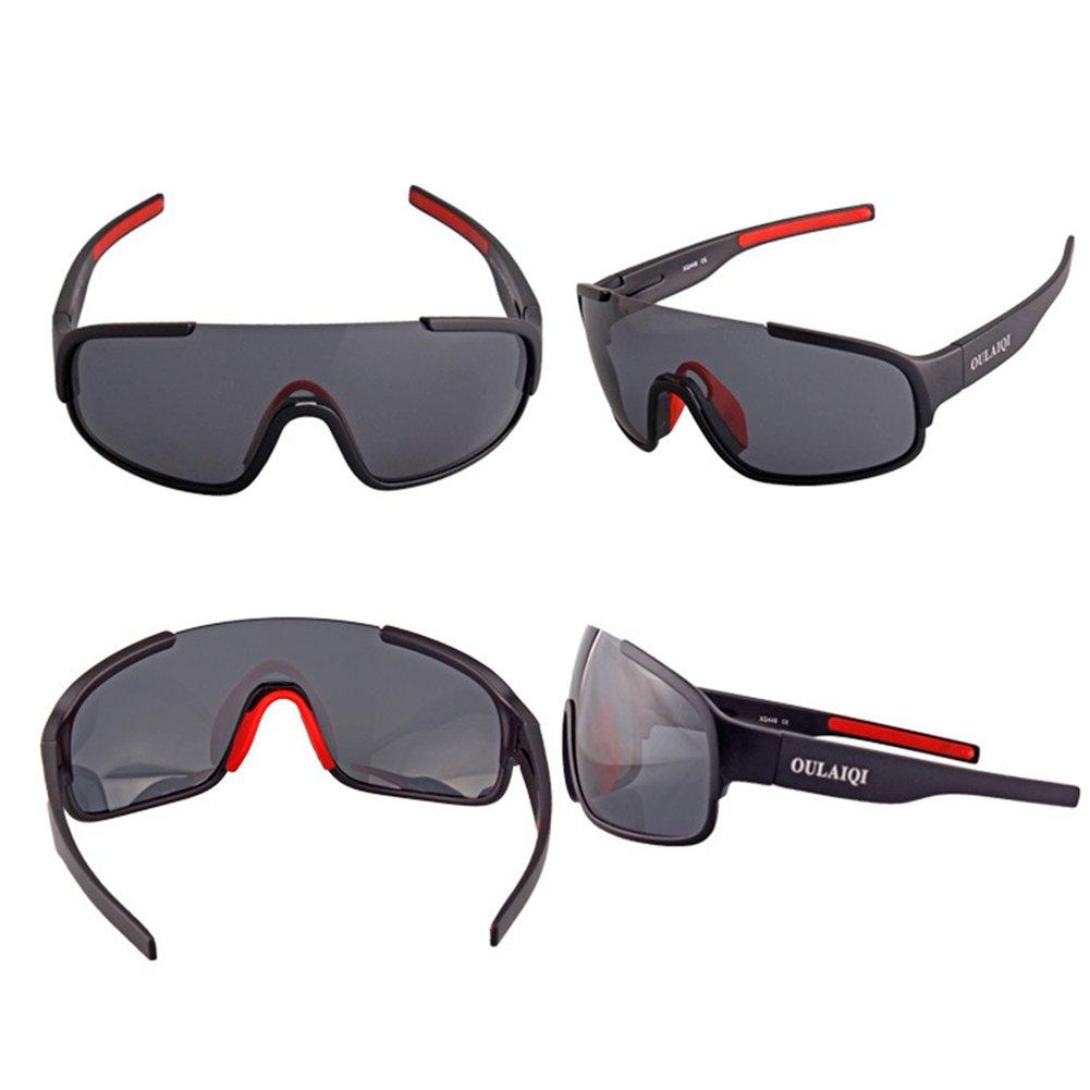 cb53d564e4996 XUNQI Hombre Y Mujer Gafas De Sol Polarizadas Deportes Al Aire Libre Lentes  Reemplazables Nariz De Goma Suave Admite Gafas De Semirretrato Para  Conducir ...