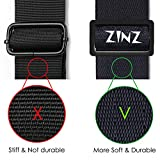 """Shoulder Strap, ZINZ 57"""" Padded Adjustable Shoulder Bag Straps Replacement for Bags with D-ring"""