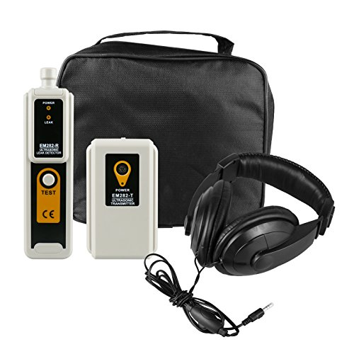 Mrcartool Ultrasonic Leak Detector & Transmitter Locator to leaks Air, Water, Dust with Headphone Accessory Kit LED Indication (ultrasonic Leak Detector)