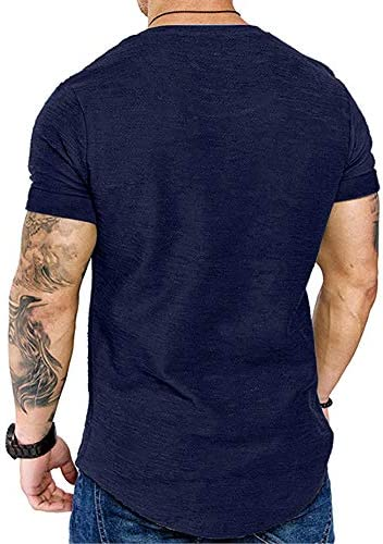 FASHION MENS MUSCLE WORKOUT GYM T SHIRT ATHLETIC SHORT SLEEVE TEE SHIRT TOP