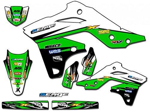(Senge Graphics kit compatible with Kawasaki 2019 KLX 140 & 140L, Velocity Green Graphics Kit (Base))