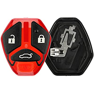 KeylessOption Keyless Entry Remote Car Key Fob Case Shell Button Pad Outer Cover Repair For OUCG8D-620M-A: Automotive