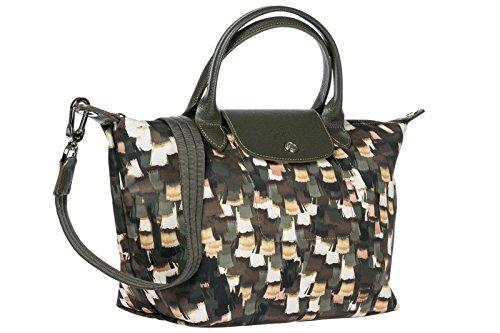 Longchamp borsa donna a mano shopping in nylon nuova verde