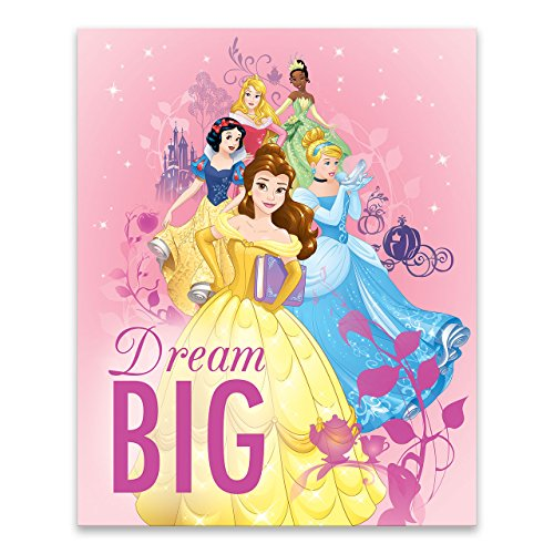 (EntertainArt Disney Dream Big Princess Stack Gallery Wrapped Canvas)
