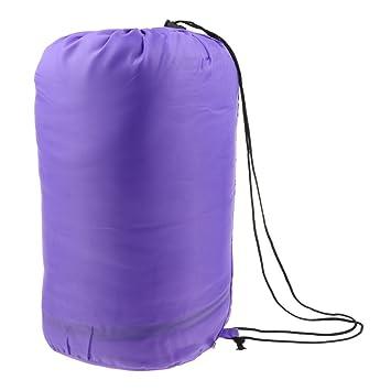 NON Sharplace 1 Unid Saco de Dormir Multiusos de Acampada Ligero con Bolsa Portatíl - Púrpura: Amazon.es: Deportes y aire libre