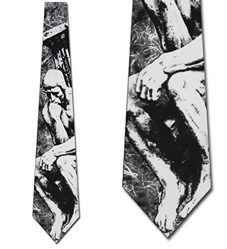 The Thinker Necktie Art Roden Neck Tie Art Necktie