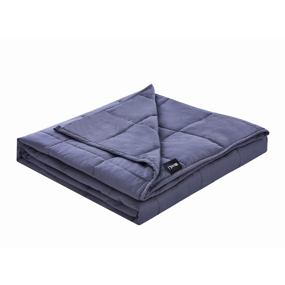 ZonLi Summer Weighted Blanket 20lbs | 80''x87'' | Grey | King Size Weighted Blanket for Adults About 180-220 lbs | Premium Cotton with Glass Beads