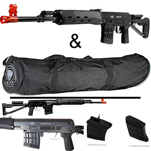 400 FPS ALL METAL SVDS Airsoft Sniper Rifle 6mm & 36