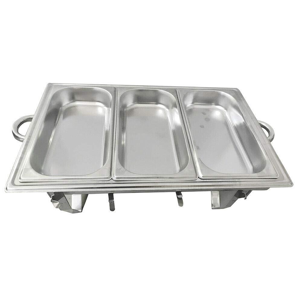 Berkalash 6L Edelstahl Speisenw/ärmer 21x26x26cm Beh/älter Chafing Dish Warmhalteger/ät Warmhaltebeh/älter Einzelzelle