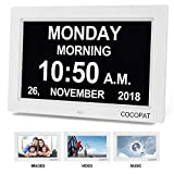 Digital Clock Large Display for Seniors - Newest Version 9'' Led Dimmable Impaired Vision Digital Clock with USB Charger Port, SD Card Support Play Picture, Video, Perfect for The Elderly