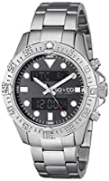 SO&CO New York Men's 5017.1 Yacht Club Analog-Digital Display Analog Quartz Silver Watch from SO&CO MFG