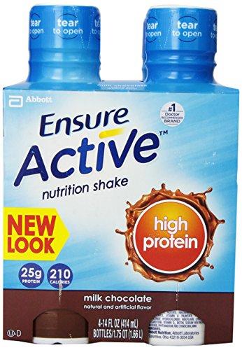 Обеспечить активное высоким содержанием белка питание трясти, шоколада, 14 унций, 4 граф, (комплект из 3)