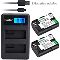 Kastar Battery (X2) & LCD Dual Slim Charger for Canon LP-E6, EOS 5DS, 5DS R, 5D Mark II, 5D Mark III, 6D, 7D, 7D Mark II, 60D, 60Da, 70D, 80D, XC10, BG-E16, BG-E14, BG-E13, BG-E11, BG-E9, BG-E7, BG-E6