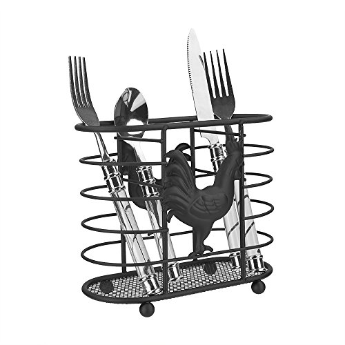 Home Basics RP01611 Rooster Collection Cutlery Holder,
