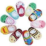 Cheri-Bébé chaussettes chaussons lot de 3 pairs mignonne Antidérapant Anti Glisse 15cm maximum