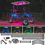LEDGlow 12pc Million Color LED Golf Cart Underglow Accent Neon Lighting Kit with Canopy - Wheel Well & Interior Lights for EZGO Yamaha Club Car - Fits Electric & Gas Golf Carts - Water Resistant