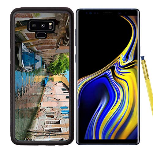 Backplate Narrow (Samsung Galaxy Note9 Case Aluminum Backplate Bumper Snap Case Image ID 32982152 Landscape of Quiet adn Narrow Venice Street)