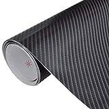 SKB Family Carbon Fiber Vinyl Car Film 4D Black 60'' x 79'' Stock Model Scale