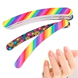 LinkinStar Nail Files Sanding 100/180 Grit Curve Manicure Nail Art Tips UV Gel Polisher (1Pc)