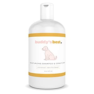 Buddy's Best Natural Dog Shampoo and Conditioner for Sensitive Skin, Two in One Dog Shampoo