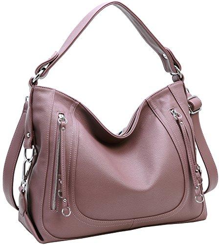Women Printing Shoulder Bag PU Leather Purse Satchel Messenger Bag - 9