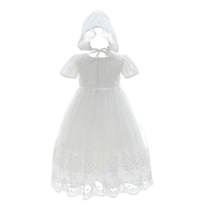 Amazon.com: Meiqiduo - Vestido de bautizo para niña, vestido ...