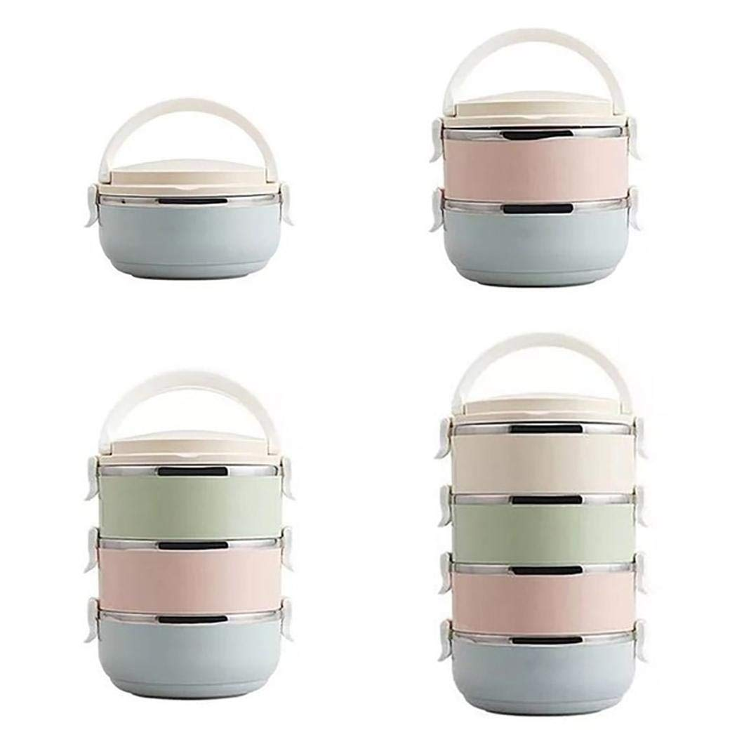 Weardear Stainless Steel Themral Lunch Containers Portable Lunch Box Food Storage Box Lunch Bags by Weardear
