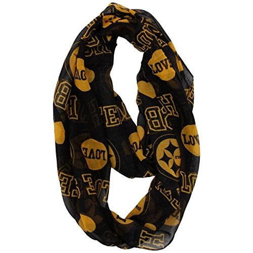 NFL 2014 Womens Love Print Infinity Scarf - Pick Team (Pittsburgh Steelers) by Forever Collectibles