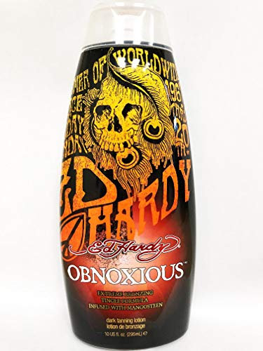 Ed Hardy Obnoxious Extreme Bronzer Tingle Tanning Lotion, 10 oz. (Best Tanning Lotion For Beginners)