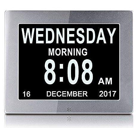 Calendario Digitale Per Anziani.Yansenxing Ysx Sveglia Digitale Da 8 Con Calendario