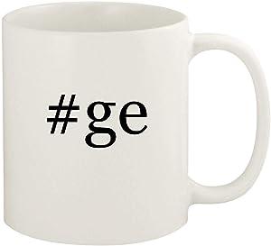 #ge - 11oz Hashtag Ceramic White Coffee Mug Cup, White