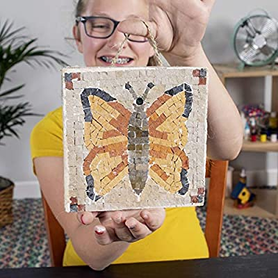 Fat Brain Toys Make A Real Mosaic - Butterfly Arts & Crafts for Ages 8 to 11: Toys & Games