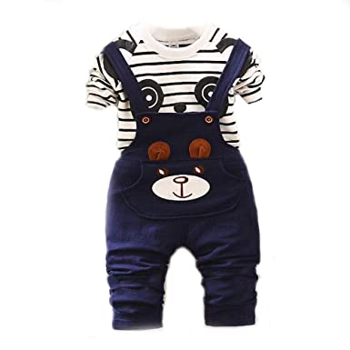 b9d10d254c20 Bold N Elegant Blue White Cute Cartoon Dungaree Baby Boy Girl ...